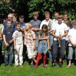 Posaunenchor im Pfarrgarten 2009